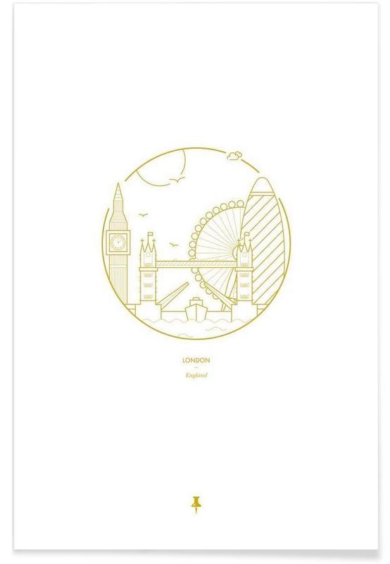 London – minimalistisch -Poster