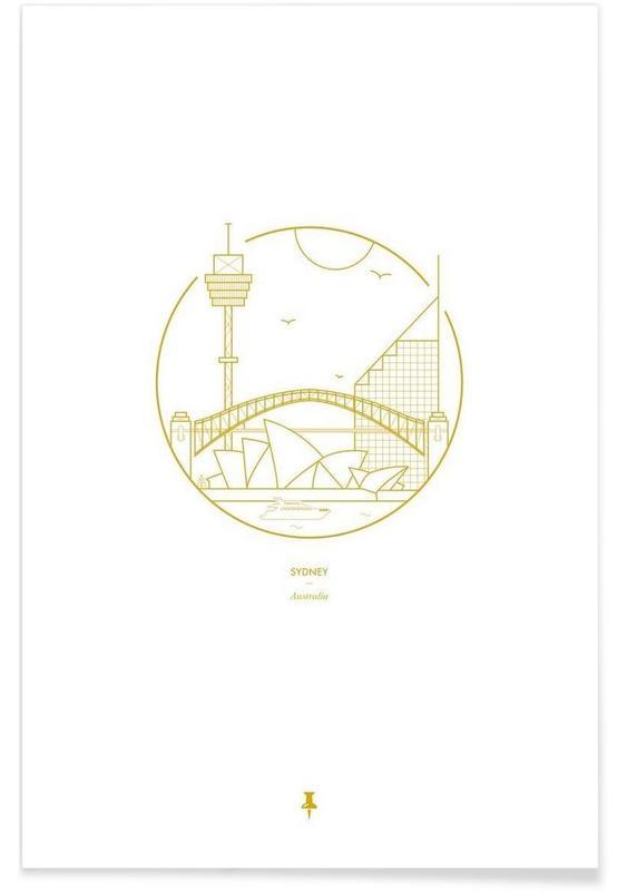 Sydney - minimalistisch poster