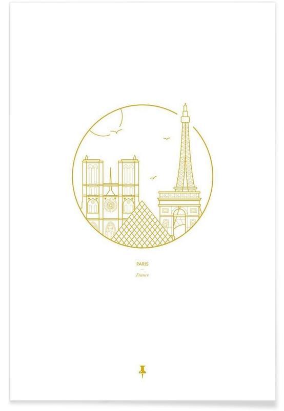 Paris, Paris – minimalistisch -Poster