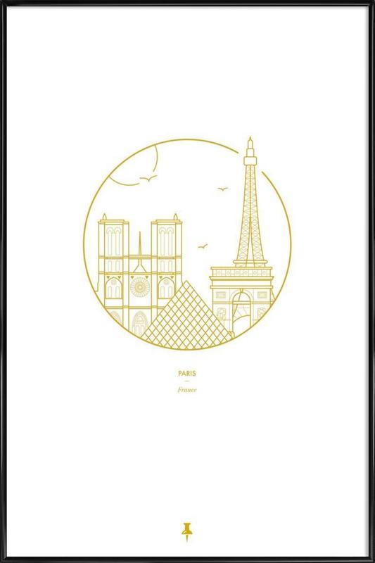 Paris ingelijste poster
