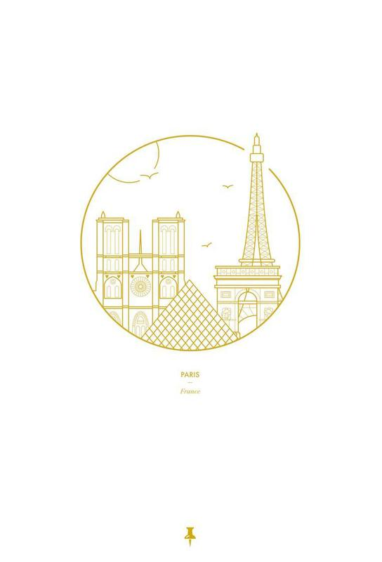 Paris Aluminium Print