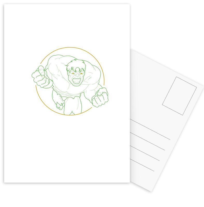 , Hulk Postcard Set