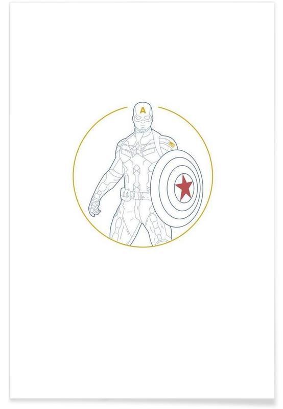 Captain America, Captain America affiche