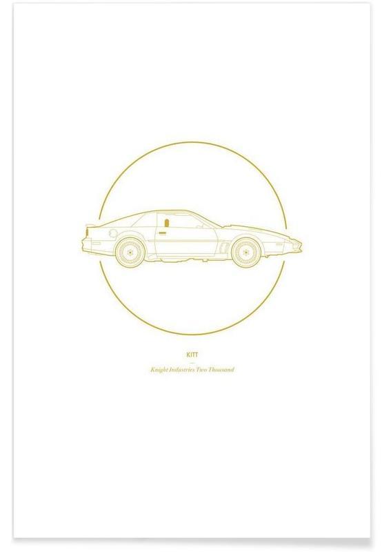 Filme, Autos, KITT – minimalistisch -Poster