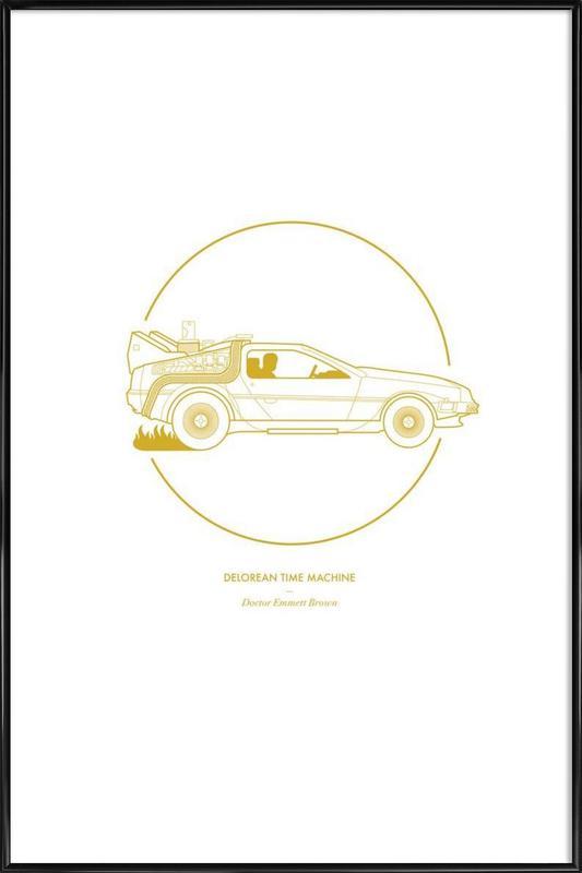 Delorean Time Machine ingelijste poster
