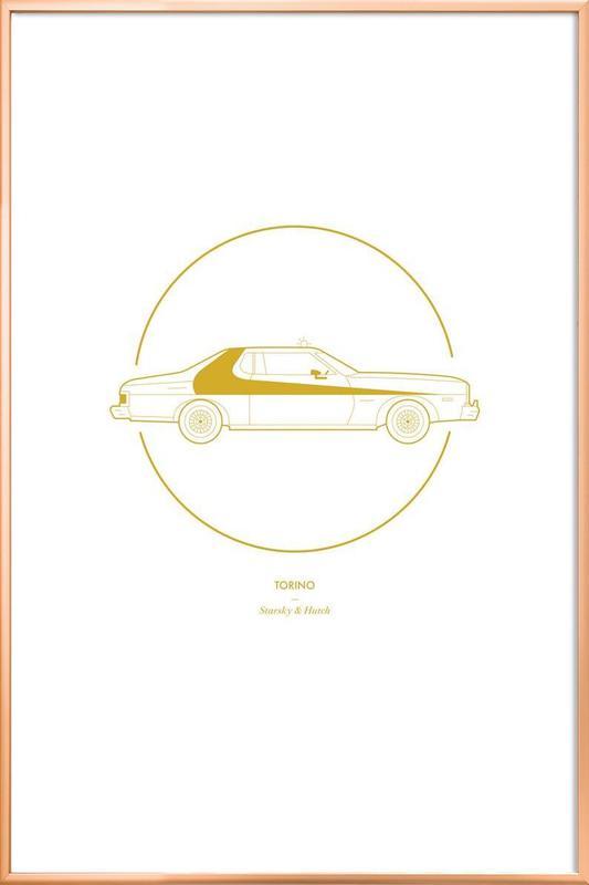 Torino -Poster im Alurahmen