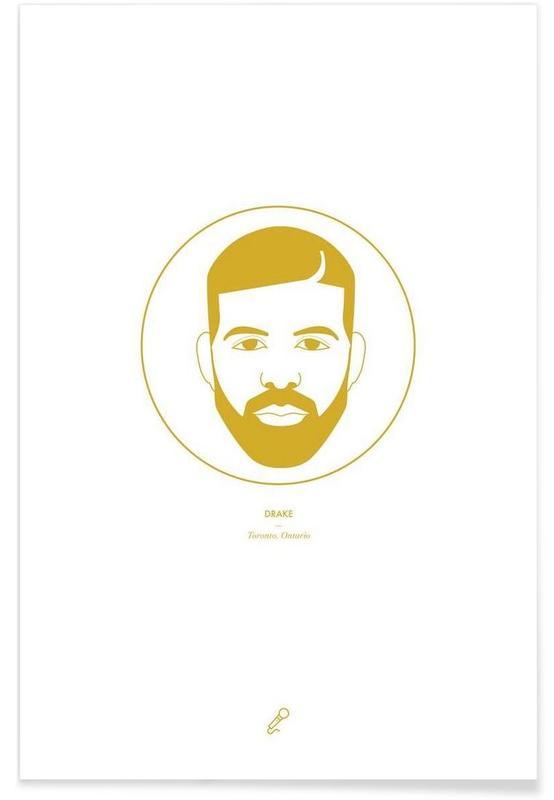 Hip Hop & Rap, Drake Minimalist Poster