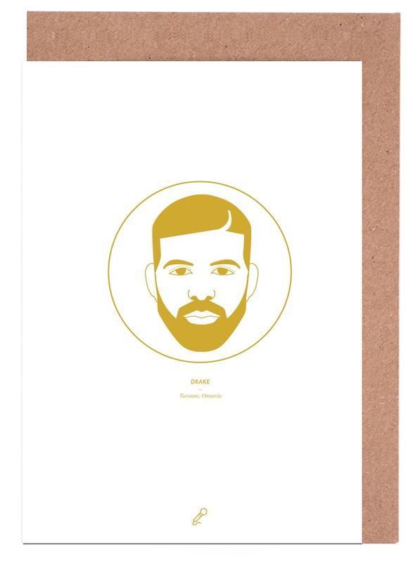 Drake -Grußkarten-Set
