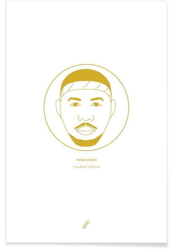 Hip Hop & Rap, Frank Ocean Minimalist Poster