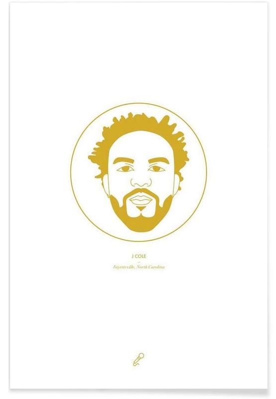 Hip Hop & Rap, J Cole Minimalist Poster