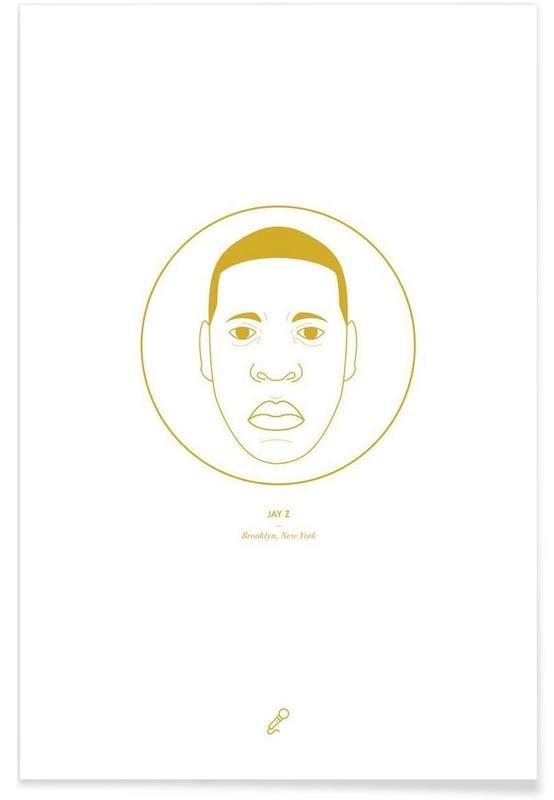 Hiphop en rap, Jay Z - minimalistisch poster