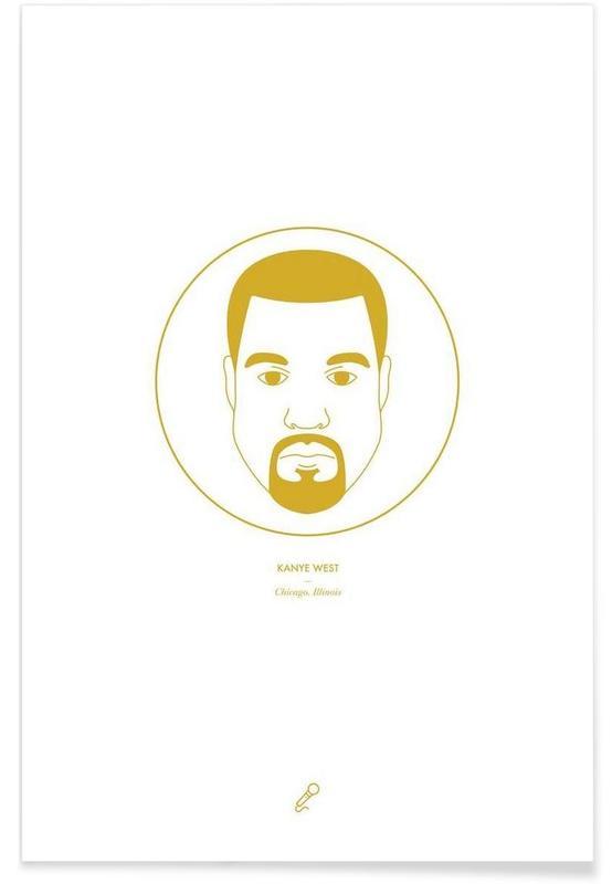 Hiphop en rap, Kanye West - minimalistisch poster