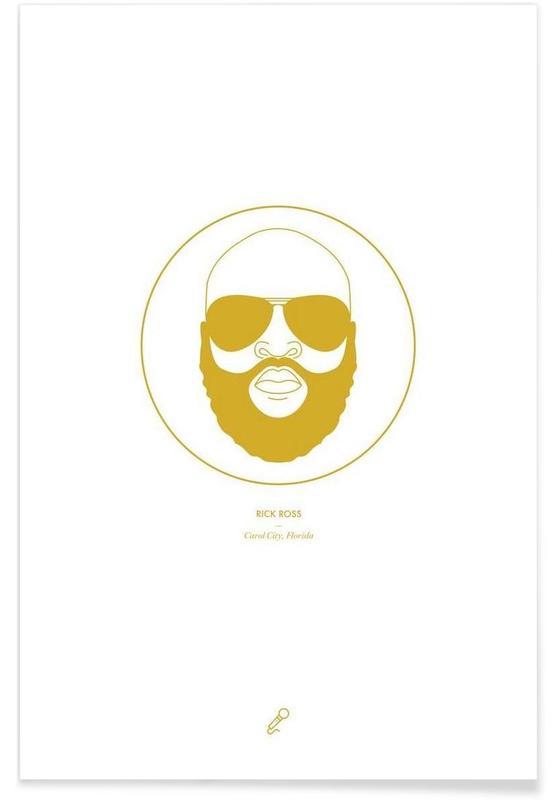 Hiphop en rap, Rick Ross - minimalistisch poster