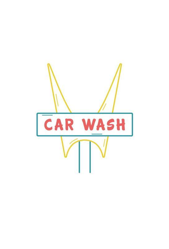 Car Wash Impression sur alu-Dibond