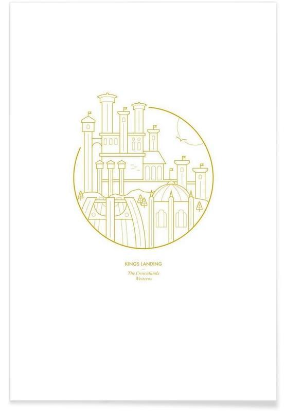 Kings Landing – minimalistisch -Poster