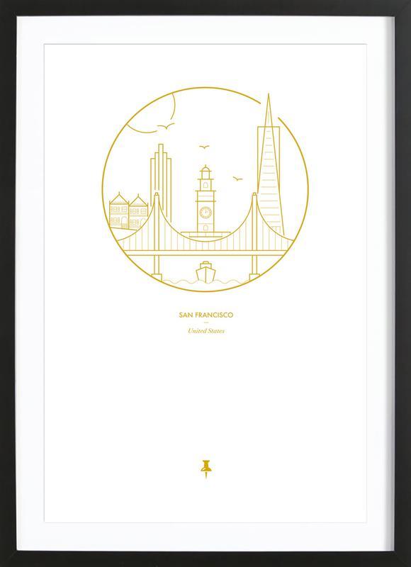 San Francisco ingelijste print