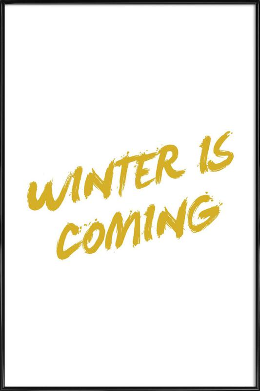 Winter is Coming Framed Poster