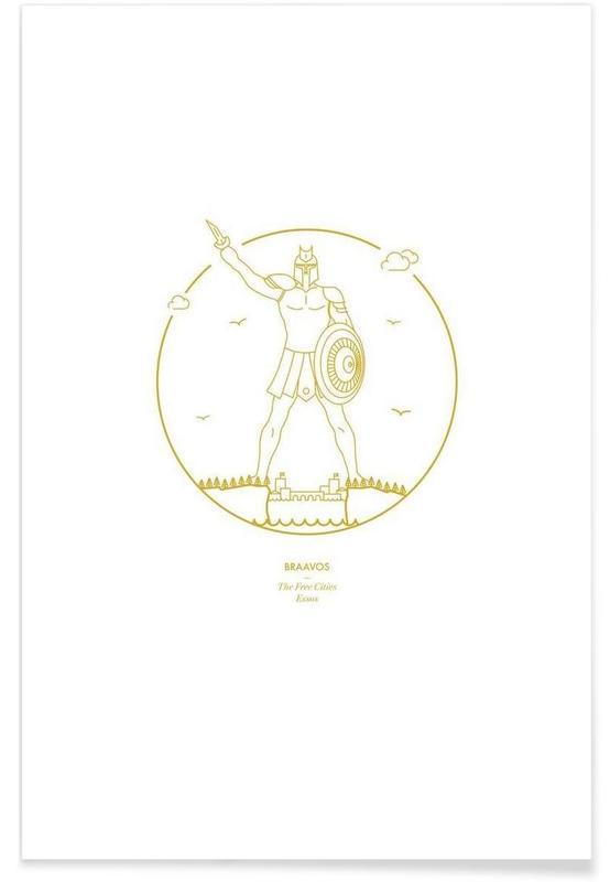Tv-series, Braavos - minimalistisch poster