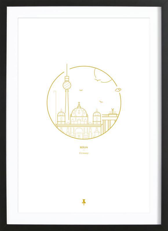 Berlin Icons -Bild mit Holzrahmen