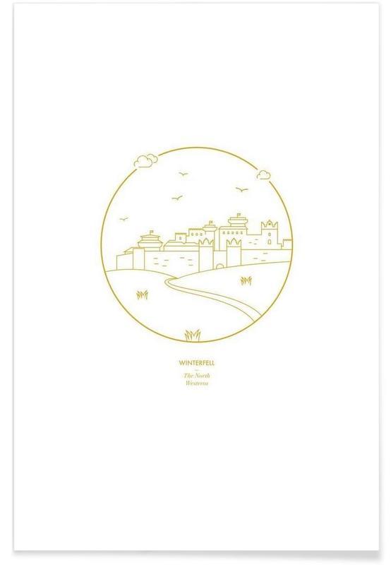 Winterfell – minimalistisch -Poster