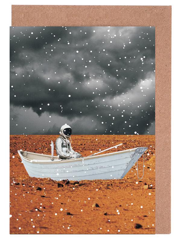 Astronauten, Abandon Ship -Grußkarten-Set
