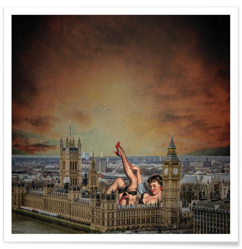 Retro, London Pinup poster