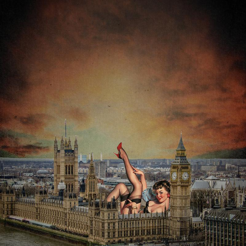 London Pinup Canvas Print