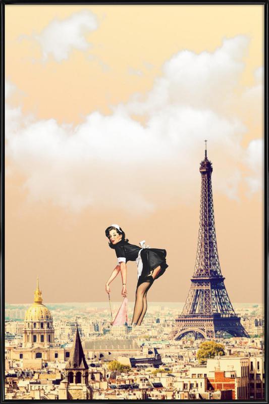 Paris Pinup -Bild mit Kunststoffrahmen