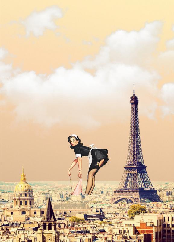Paris Pinup canvas doek