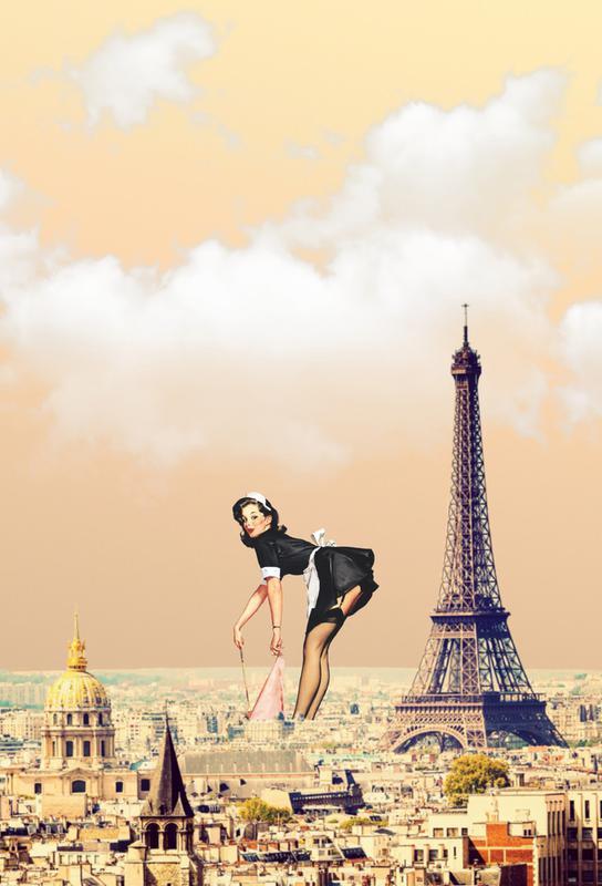 Paris Pinup -Acrylglasbild
