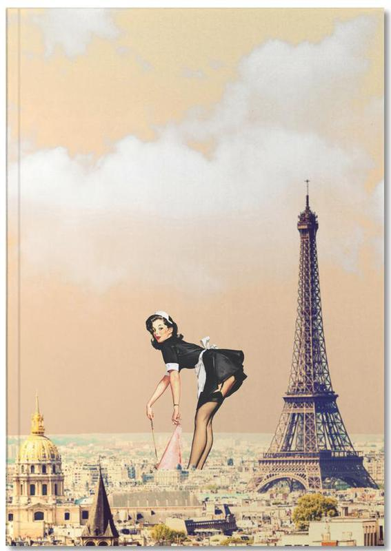 Retro, Paris, Paris Pinup Notebook
