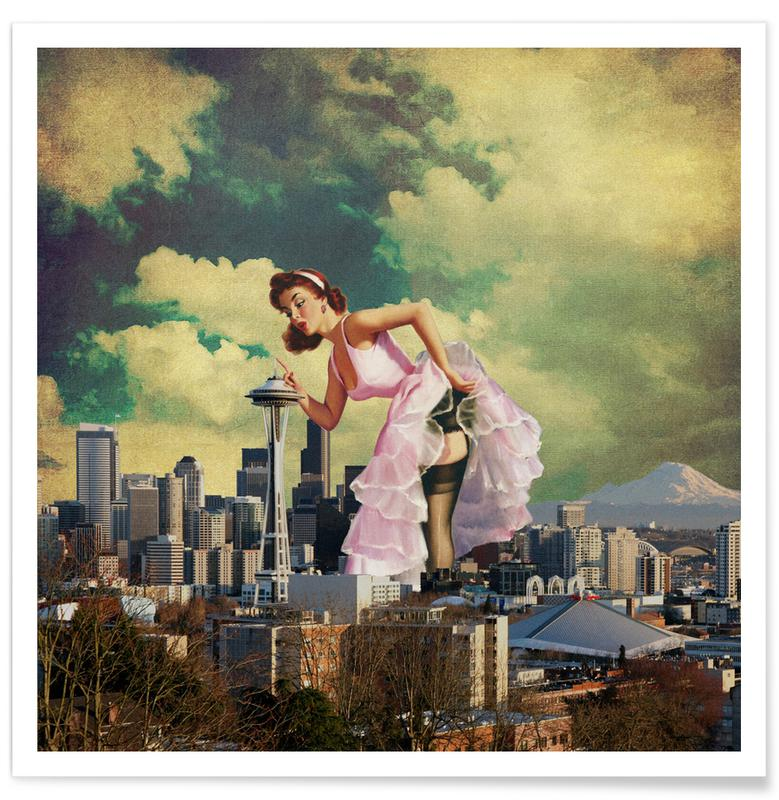 Retro, Seattle Pinup poster