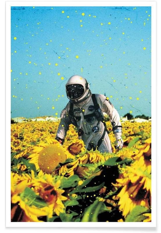 Sunflowers, Astronauts, Lost in France Poster