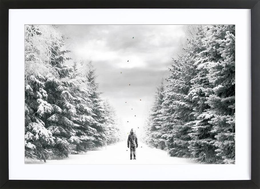 The Path -Bild mit Holzrahmen