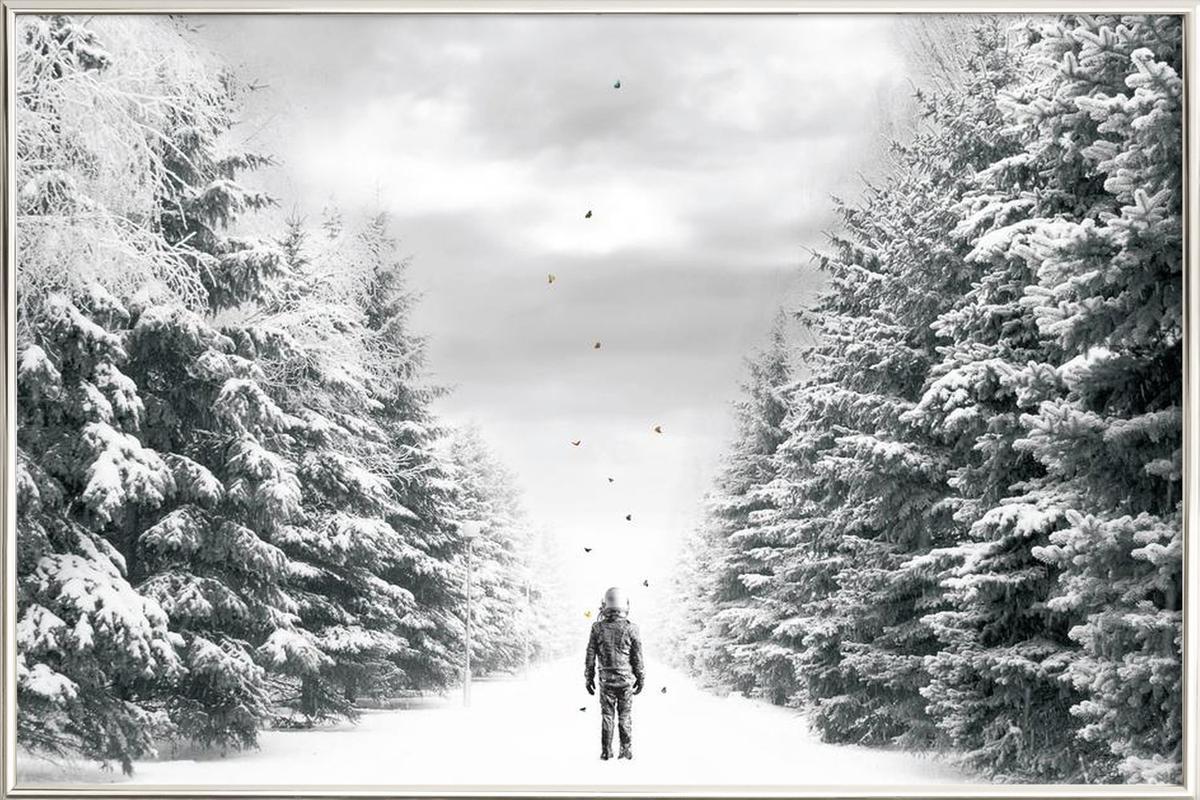 The Path -Poster im Alurahmen