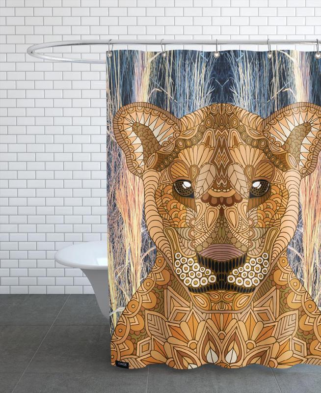 Safari-Tiere, Lioness -Duschvorhang