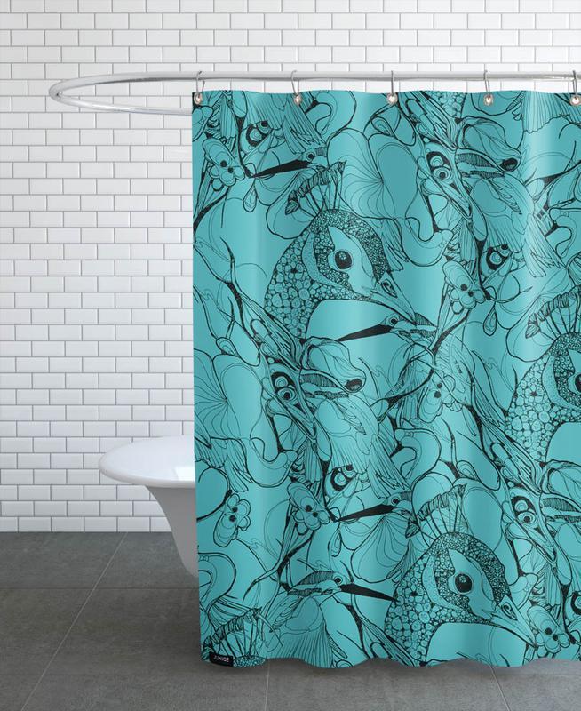 Paons, Peacock Green rideau de douche