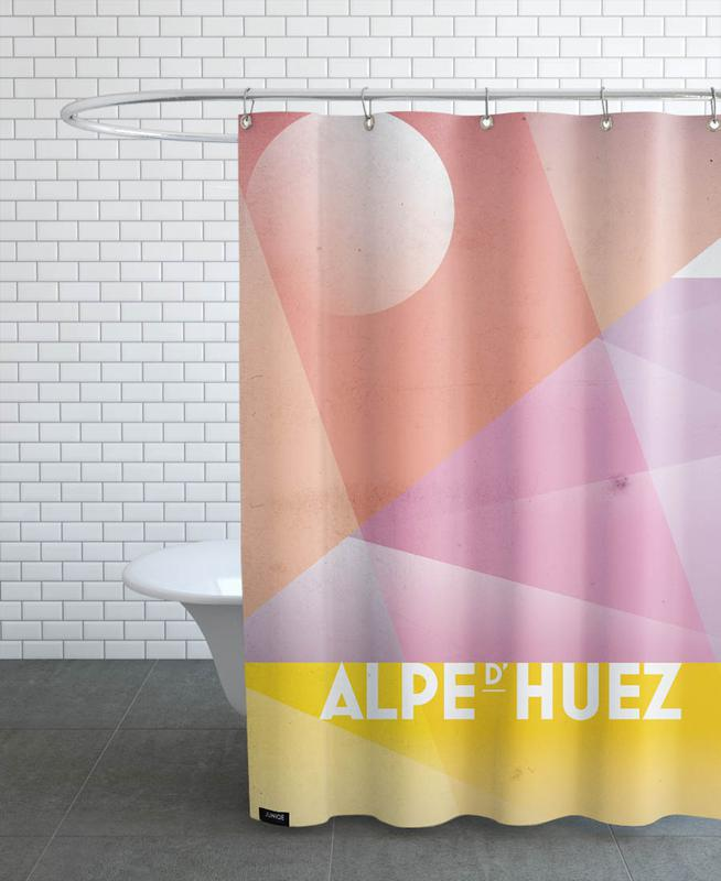 Alpe d'Huez Shower Curtain