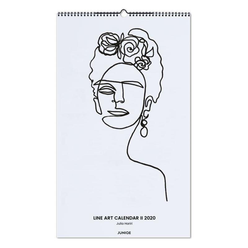 Line Art Calendar II 2020 - Julia Hariri -Wandkalender