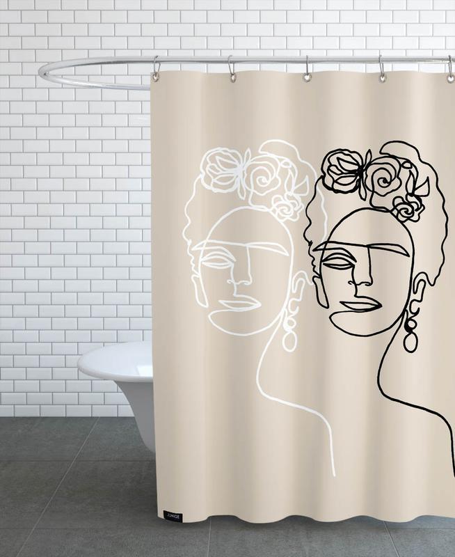 Frida Kahlo, Frida Double Beige Shower Curtain
