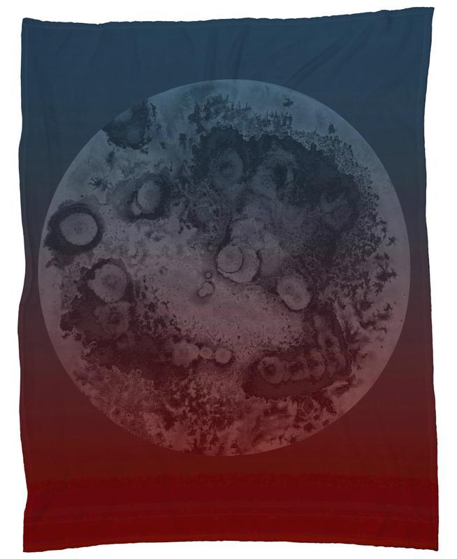 Ixion Light Blue Red Fleece Blanket