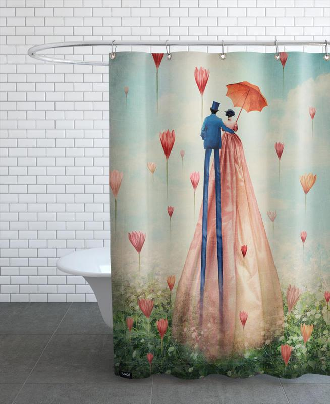 Weddings, Anniversaries & Love, Couples, Dreamy, Good Morning Shower Curtain