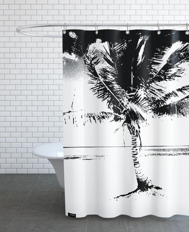 Noir & blanc, Palmiers, 80ish rideau de douche