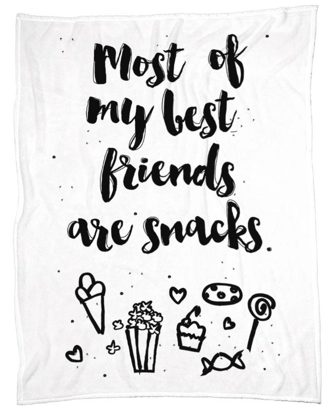 Snacks Fleece Blanket