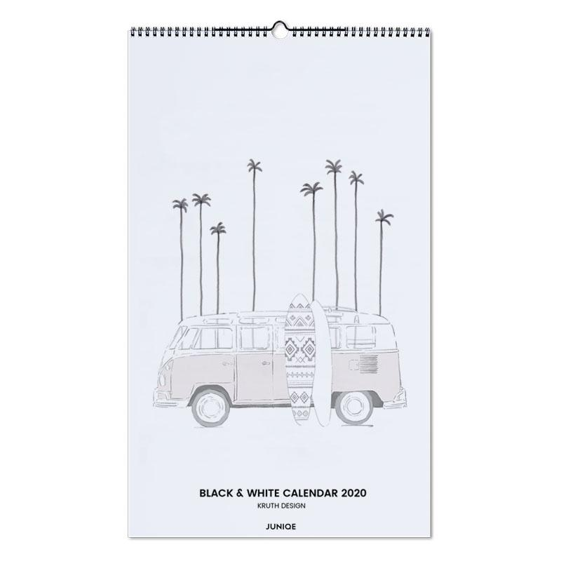 Black & White Calendar 2020 - KRUTH DESIGN -Wandkalender