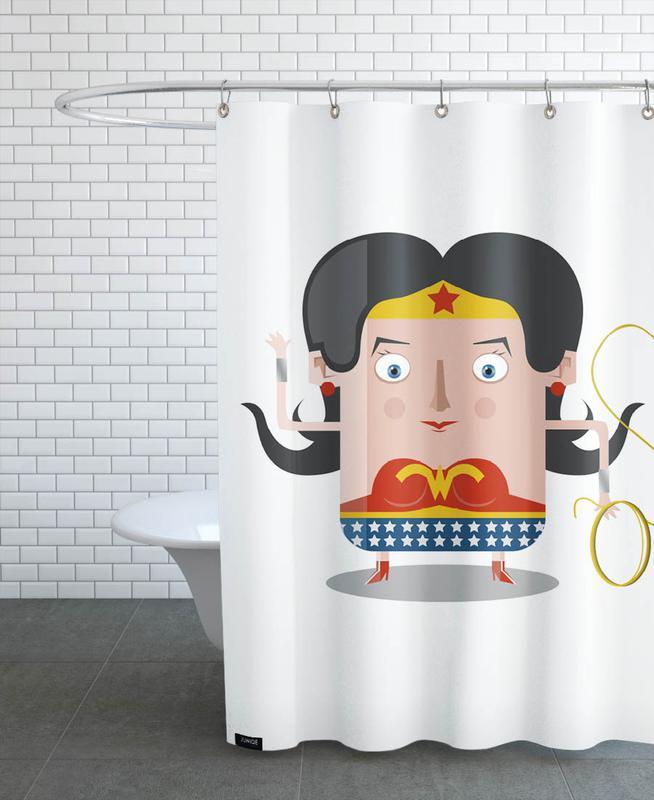 TV Shows, Wonderwoman Shower Curtain