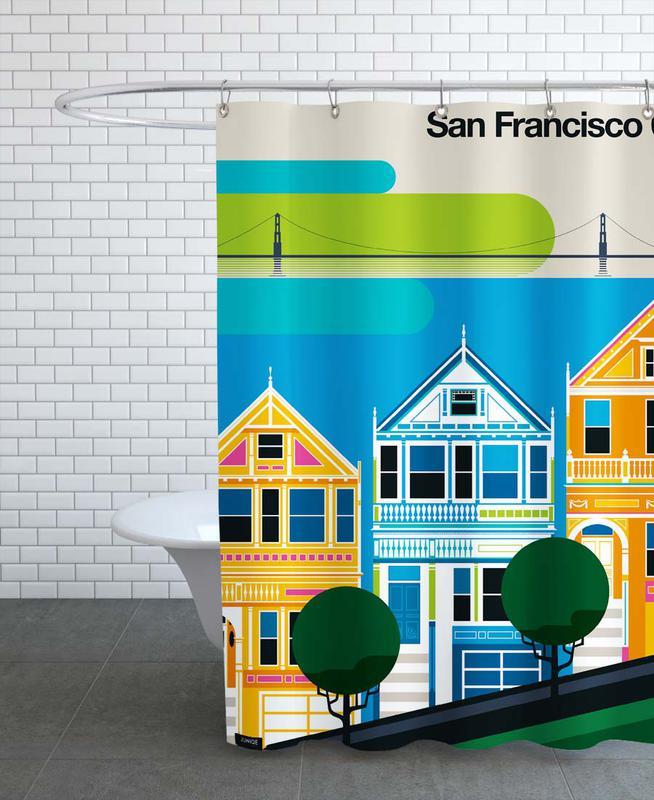 San Francisco, Travel, San Francisco 69 Shower Curtain