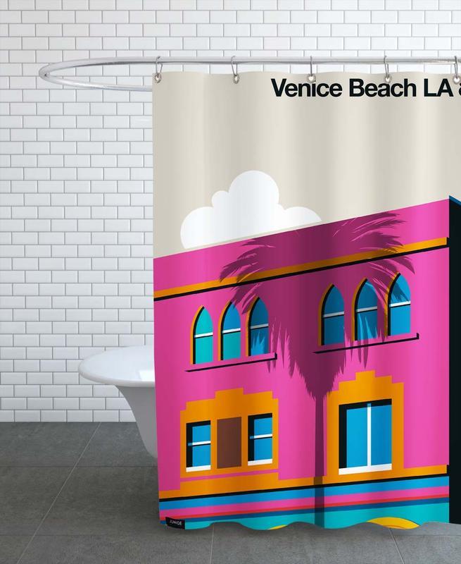 Voyages, Los Angeles, Venise, Venice LA 80 rideau de douche