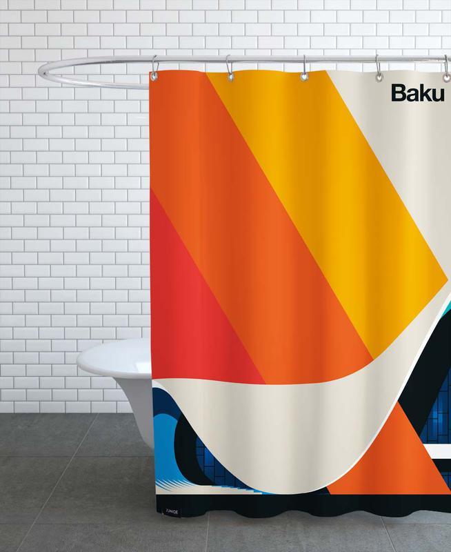 Monuments et vues, Baku 12 rideau de douche
