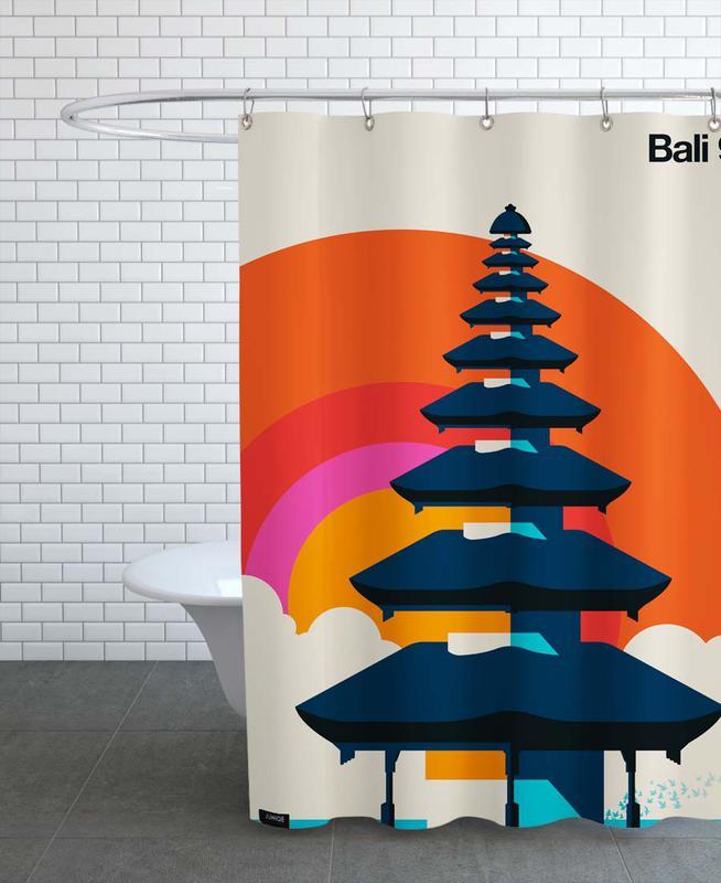 Monuments et vues, Bali 92 rideau de douche